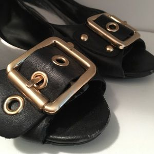 Jessica Simpson Buckled Wedge Heels